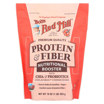 Bob's Red Mill Protein and Fiber Nutritional Booster - 16 oz - Case of 4