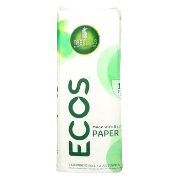 Earth Friendly Treeless Paper Towels - Case of 40 - 1 Roll