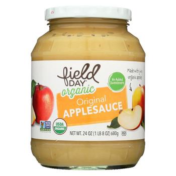Field Day Organic Apple Sauce - Original - Case of 12 - 24 oz.