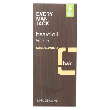 Every Man Jack Beard Oil - Sandalwood - 1 oz.