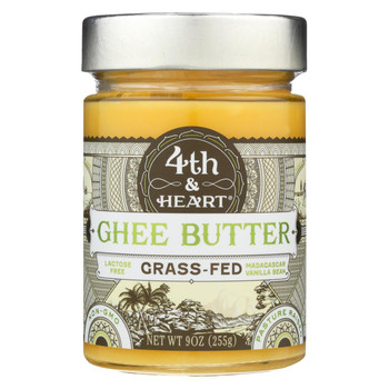 4th and Heart - Ghee Butter - Madagascar Vanilla Bean - Case of 6 - 9 oz.