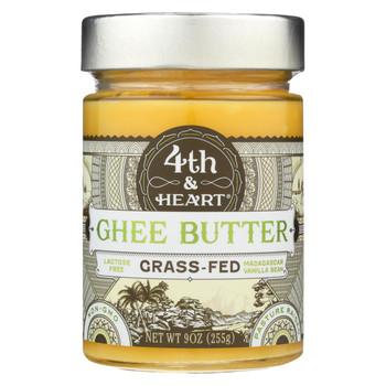 4th and Heart Ghee Butter - Madagascar Vanilla Bean - Case of 6 - 9 oz.