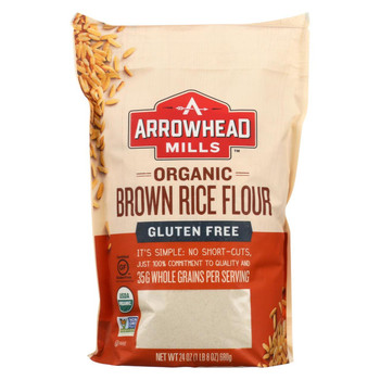 Arrowhead Mills - Organic Brown Rice Flour - Gluten Free - Case of 6 - 24 oz.