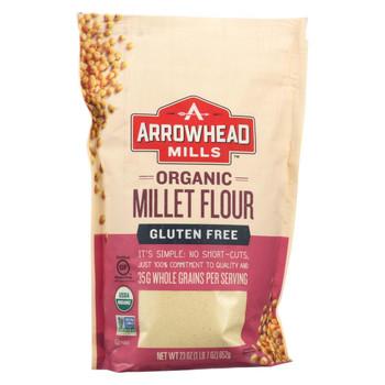 Arrowhead Mills - Organic Millet Flour - Gluten Free - Case of 6 - 23 oz.