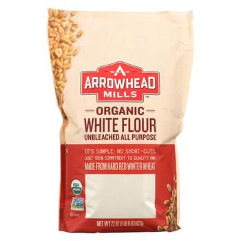 Arrowhead Mills - Organic Enriched Unbleached White Flour - Case of 6 - 22 oz.