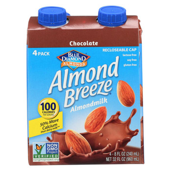 Almond Breeze - Almond Milk - Chocolate - Case of 6 - 4/8 oz.