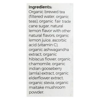 Blue Buddha Organic Wellness Tea - Lemon Elderflower with Ashwagandha - Case of 12 - 14 oz.