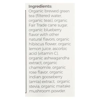 Blue Buddha Organic Wellness Tea - Blueberry Rose with Ashwagandha - Case of 12 - 14 oz.