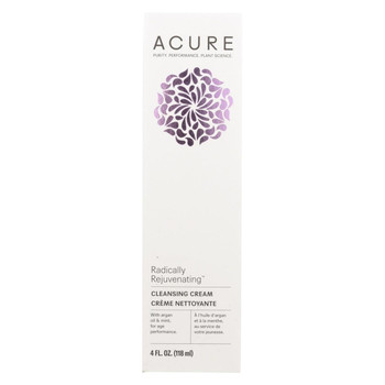 Acure - Facial Cleansing Creme - Argan Oil and Mint - 4 FL oz.