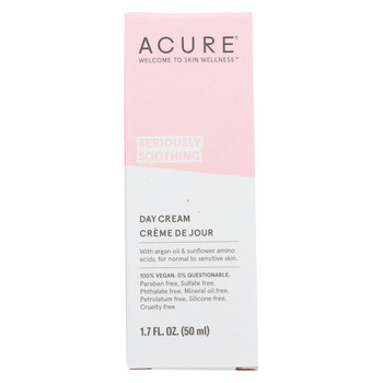 Acure Sensitive Facial Cream - Argan Oil and Sunflower Amino Acids - 1.75 FL oz.