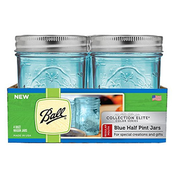 Ball Canning Jar Half Pint Blue - Case of 4 - 4 Count