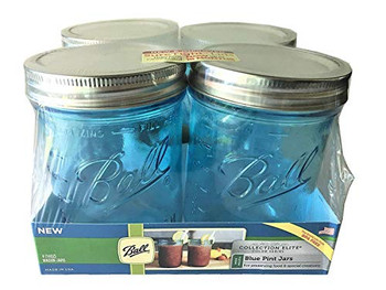 Ball Canning Wide Mouth Elite Collection Mason Jars - Case of 4 - 4 Count