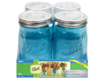 Ball Canning Elite Jar with Lids and Bands - Blue - Case of 52
