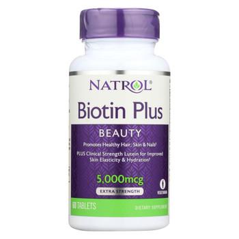 Natrol Biotin Plus with Lutein Capsules - 60 Count