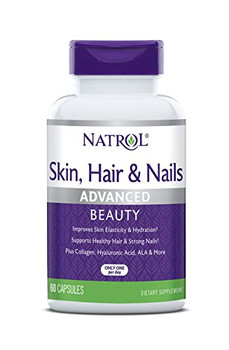 Natrol Skin Hair and Nails with Lutein Capsules - 60 Count