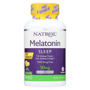 Natrol Melatonin Fast Dissolve Tablets - 10 Mg - 100 Count