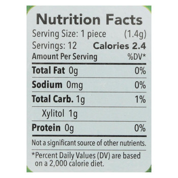 Spry Xylitol Gum - Stronger Longer Spearmint - Case of 12 - 12 count
