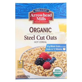 Arrowhead Mills Steel Cut Oats - Hot Cereal - Case of 6 - 24 oz.