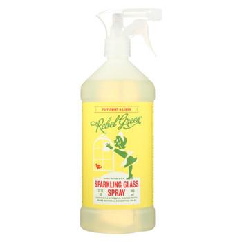 Rebel Green Glass Spray - Peppermint Lemon - Case of 4 - 32 fl oz