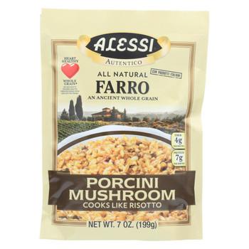 Alessi - Farro Porcini Mushroom - Case Of 6 - 7 Oz