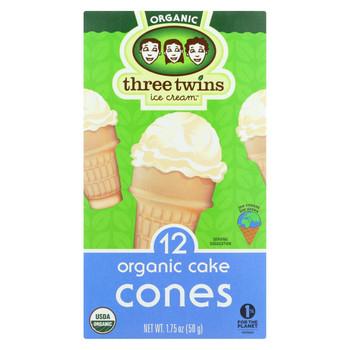Three Twins Organic Cones - Cake Cones - Case of 8 - 1.75 oz