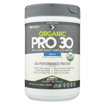 Designer Protein Pro 30 Protein Powder - Vanilla - 1.29 lb.