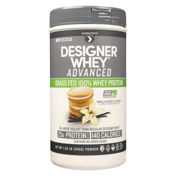 Designer Whey Protein Powder - Vanilla Cookies and Cream - 1.85 Lb