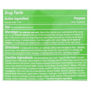Alba Botanica - Fast Fix Sheet Masks - Papaya Anti- Acne - Case of 8 - 1 count