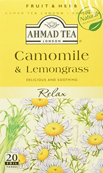 Ahmad Tea - Chamomile & Lemongrass - Case of 6 - 20 count