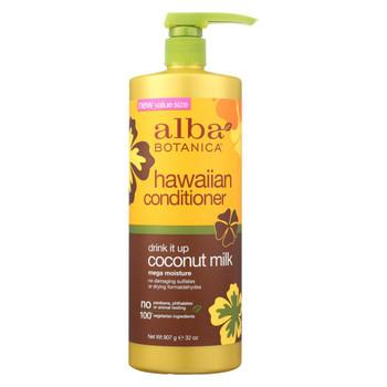 Alba Botanica Hawaiian Conditioner - Drink It Up Coconut Milk - 32 oz