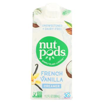 Nutpods - Non-Dairy Creamer French Vanilla Unsweetened - Case of 12 - 11.2 fl oz.