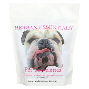 Herban Essentials Towelettes - Pet - 20 count