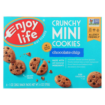 Enjoy Life - Crunchy Minis - Chocolate Chip - Case of 6 - 6 oz.