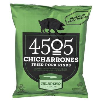 4505 Pork Rinds - Chicharones - Jalapeno Cheddar - Case of 24 - 1 oz