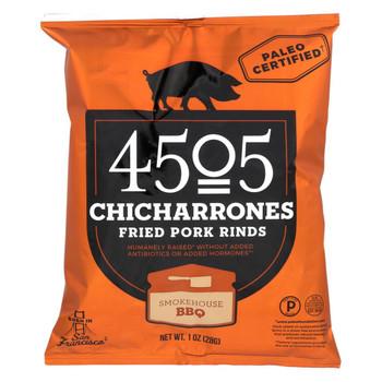 4505 Pork Rinds - Chicharones - BBQ - Case of 24 - 1 oz