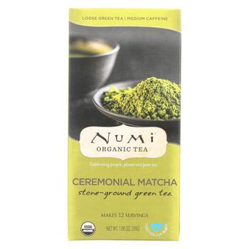 Numi Tea Ceremonial Matcha - Organic - Case of 6 - 1.06 oz
