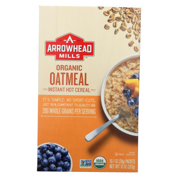 Arrowhead Mills Oatmeal - Instant Hot Cereal - Case of 6 - 10 oz.