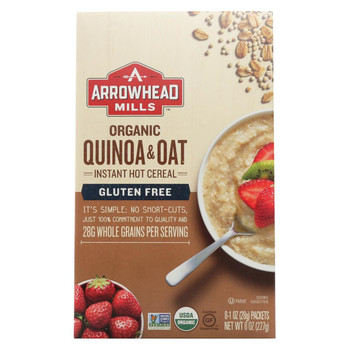 Arrowhead Mills - Cereal - Quinoa & Oat - Gluten Free - Case of 6 - 8 oz