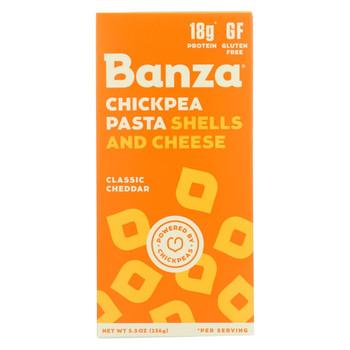 Banza Shells & Cheese - Chickpea - Case of 12 - 5.50 oz