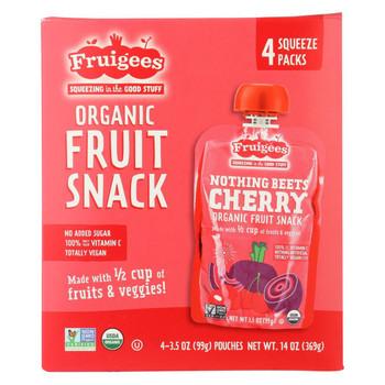 Fruigees Fruit Juice Snack - Organic - Beet Cherry - Case of 6 - 14 oz