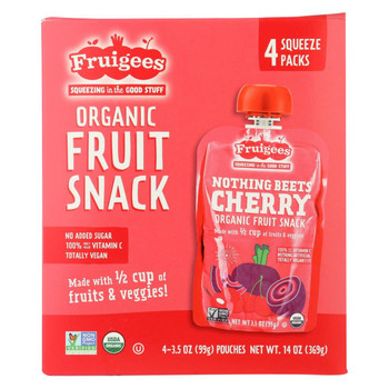 Fruigees Fruit Juice Snack - Organic - Beet Cherry - Case of 6 - 14 oz