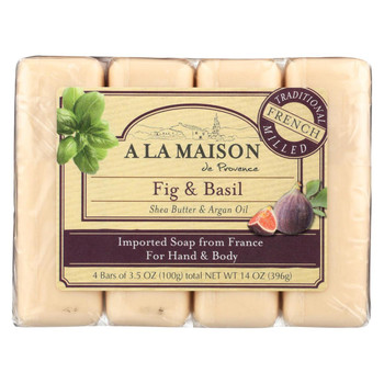 A La Maison Bar Soap - Fig and Basil - 4/3.5 Oz