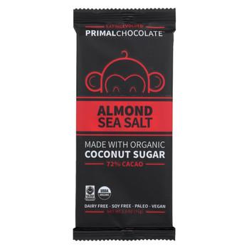 Eating Evolved Chocolate Bar - Almond Sea Salt - Case of 8 - 2.5 oz.