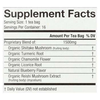 Choice Organic Teas Organic Wellness Tea - Shiitake Turmeric - Case of 6 - 16 BAG