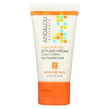 andalou Naturals Styling Cream - Argan - Shea - Case of 6 - 1.7 fl oz