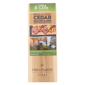 Fire and Flavor Cedar Planks - Grilling - Case of 10 - 2 count