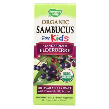Nature's Way - Organic Sambucus For Kids - Elderberry Syrup - 4 fl oz