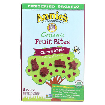 Annie'S Homegrown Fruit Bites Cherry Apple - Case Of 10 - 3.15 Oz