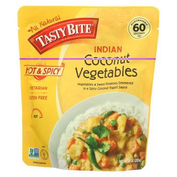 Tasty Bite Heat & Eat Indian Cuisine Entr?e - Hot & Spicy Coconut Vegetables - Case of 6 - 10 oz