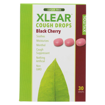 Xlear Throat Drops - Black Cherry - Case of 12 - 30 count